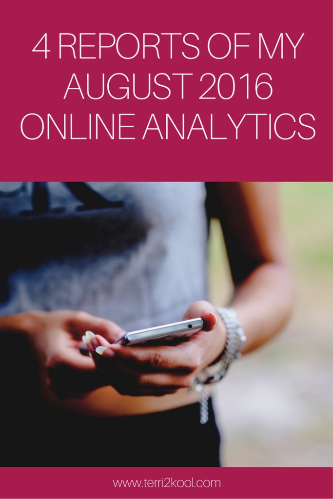 4 Reports of August 2016 Online Analytics